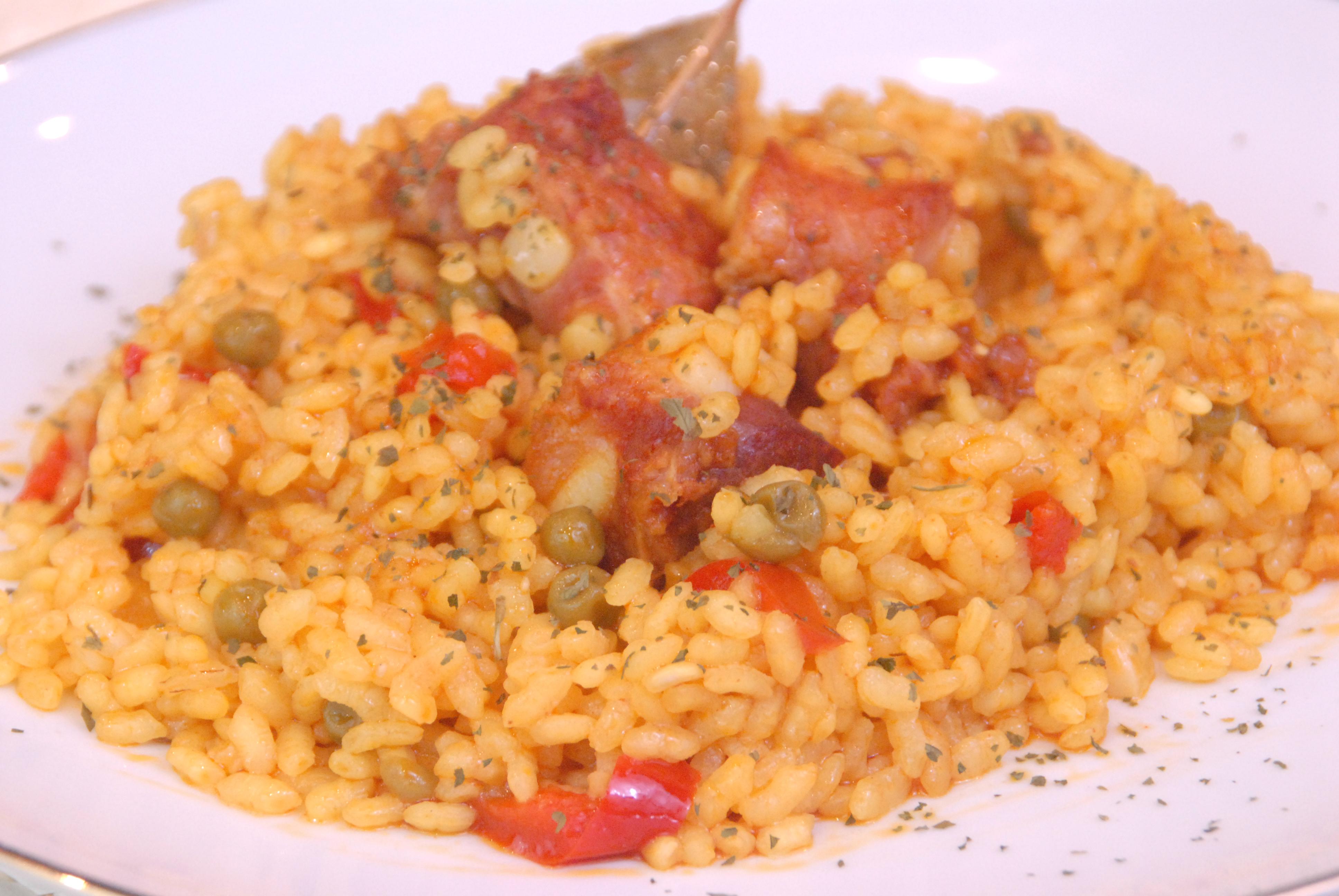 Receta de arroz con costilla de cerdo.