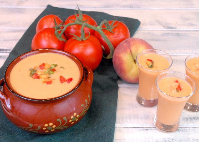 Receta de gazpacho de melocotón