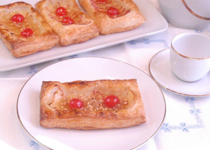 Receta de pastelitos de manzana y hojaldre.