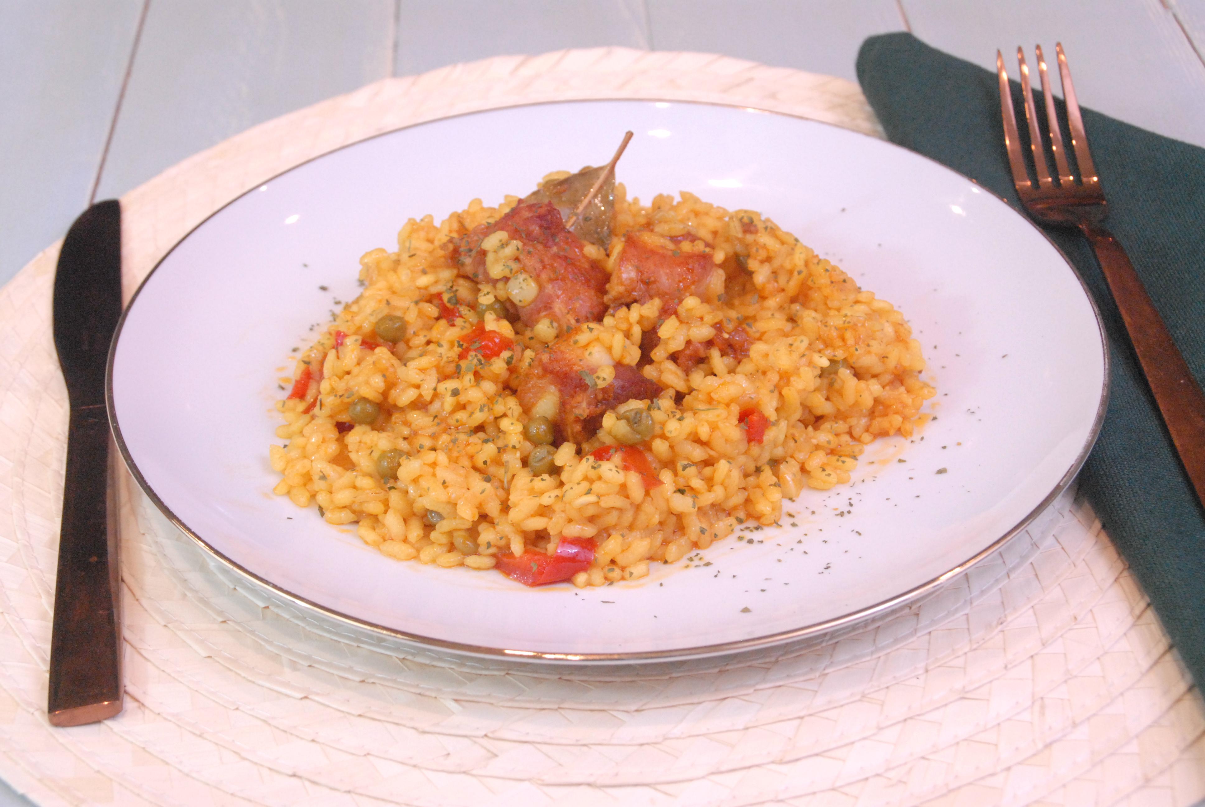 Receta de arroz con costillas de cerdo