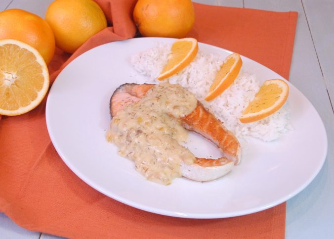 Receta de salmón con salsa de naranja