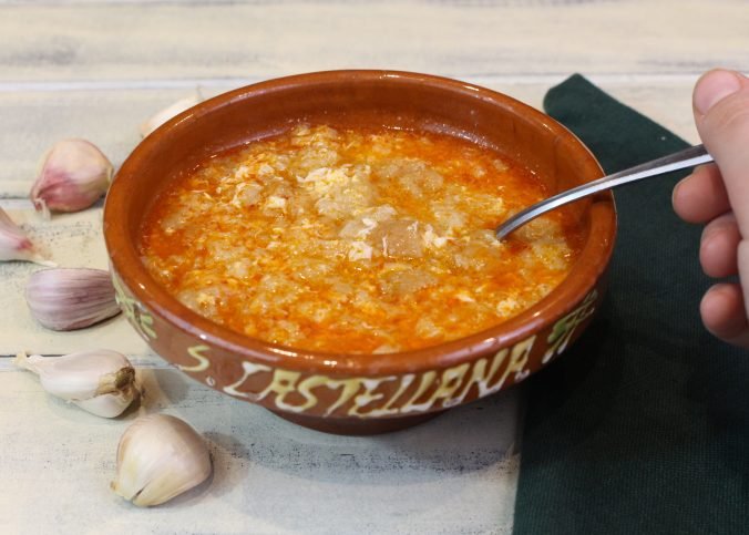 Receta de sopa castellana o sopa de ajo