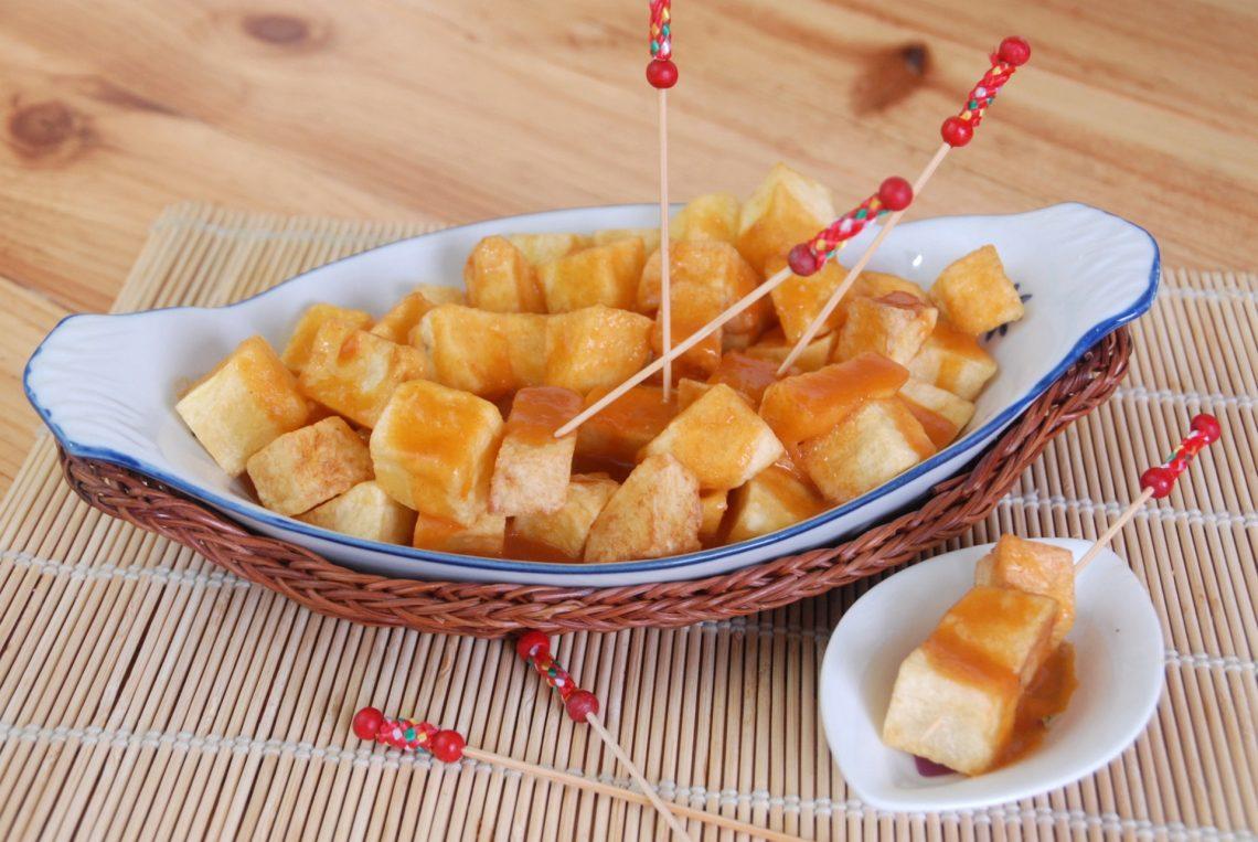 Receta de patatas con salsa brava