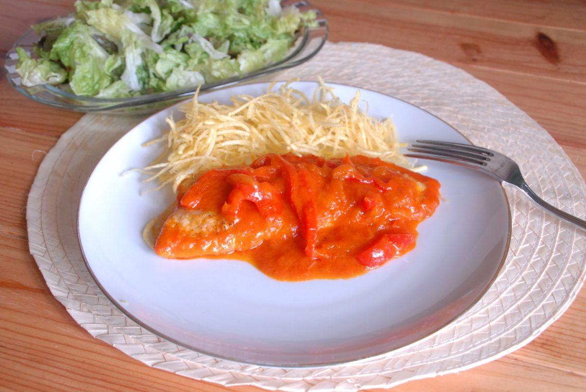 Receta de palometa con salsa de tomate