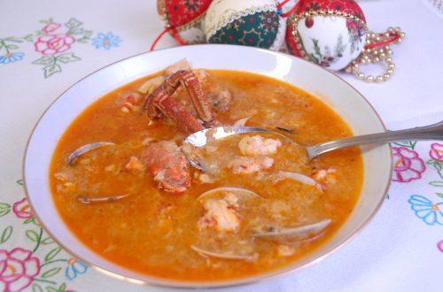 Receta de sopa de pescados y mariscos